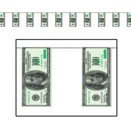 Pennant Banner One Hundred Dollar Bill