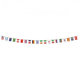 International Flag Pennant Banner 7m Plastic