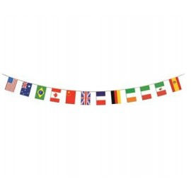 International Flag Pennant Banner 12 Flags