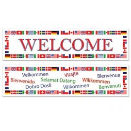 International Welcome Banner 38cm x 1.5m