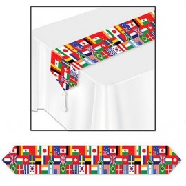 Table Runner International Flags 1.83m