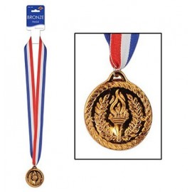 Bronze Sports Medal & Ribbon