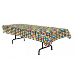 Tablecover Disco Squares Plastic