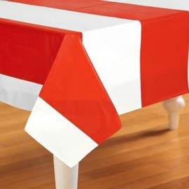 Tablecover Red & White Stripes