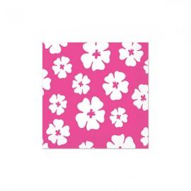 Hibiscus Beverage Napkins Pink & White