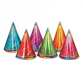 Hats Prismatic with Printed Streamer Design,