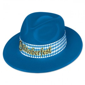 Hat Oktoberfest Velour Fedora Blue