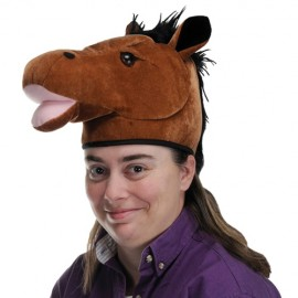 Hat Plush Horse Head
