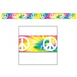 Party Tape Peace Sign 7.5cm x 6m