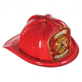 Hat Red Plastic Junior Firefighter Helmet