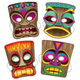 Masks Tiki with elastic assorted designs