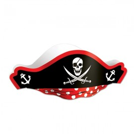 Pirate Hat & Skull Design Red & Black