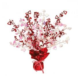 Centrepiece Hearts Gleam n Burst Red 38cm