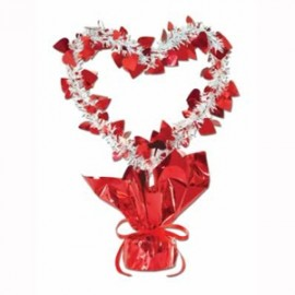 Centrepiece Heart Red & White