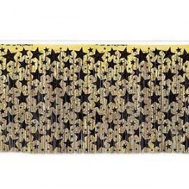 Tableskirt Gold with Black Stars