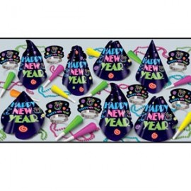 Party Pack Box Neon Midnight for 10 People