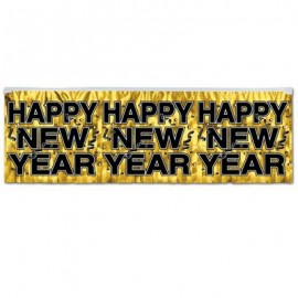 Banner Metallic Fringe Happy New Year,