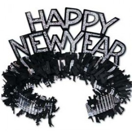 Tiaras Happy NY Black & Silver Regal