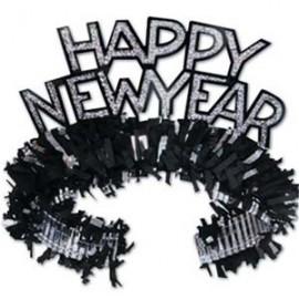 Tiaras Happy NY Black & Silver Regal