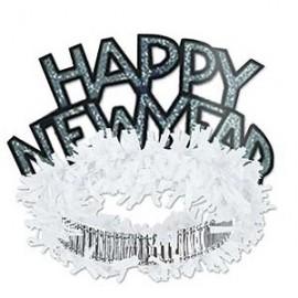 Tiaras Happy NY White & Silver Regal