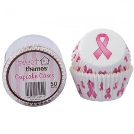 Cupcake Cases Pink Ribbon