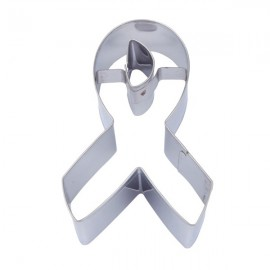 Cookie Cutter Cancer Awareness Ribbon 10cm Un-Packaged