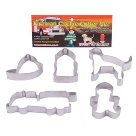 Cookie Cutters Fireman, Rust Resistant & Dishwasher Safe