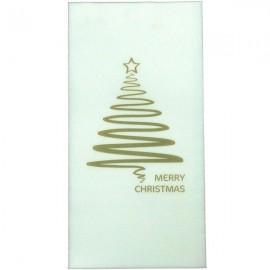 Dinner Napkins Christmas Tree Gold Merry Christmas