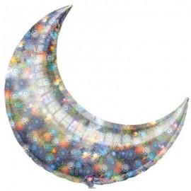 Shape Crescent 66cm Holographic