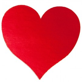 80mm Cardboard Heart Cutouts Red