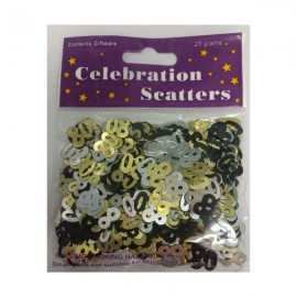 Scatters 80 Gold, Silver & Black Value Pack