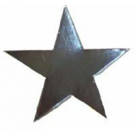 150mm Cardboard Star Cutouts Silver