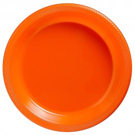 Dinner Plates Orange Peel Plastic 23cm