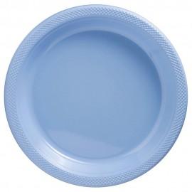 Dinner Plates Pastel Blue Plastic 23cm
