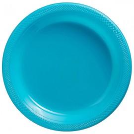 Dinner Plates Caribbean Blue Plastic 23cm