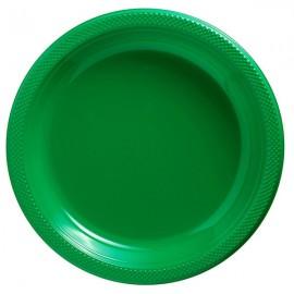 Banquet Plates Festive Green Plastic 26cm