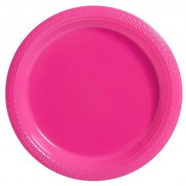 Banquet Plates Bright Pink Plastic 26cm