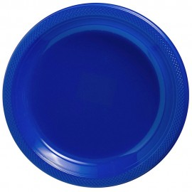 Banquet Plates Bright Royal Blue  Plastic 26cm