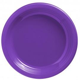 Banquet Plates New Purple Plastic 26cm