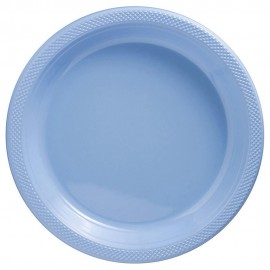 Banquet Plates Pastel Blue Plastic 26cm
