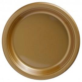 Banquet Plates Gold Plastic 26cm