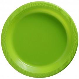 Banquet Plates Kiwi Lime Green Plastic 26cm