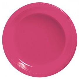 Banquet Plates Magenta Plastic 26cm