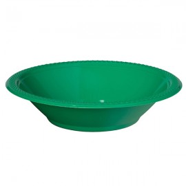 Bowls Festive Green 18cm Plastic