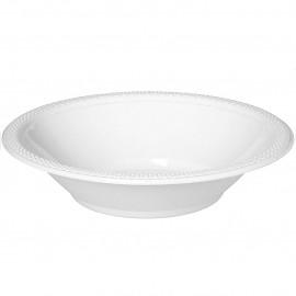 Bowls Frosty White 18cm Plastic