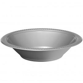 Bowls Silver 18cm Plastic