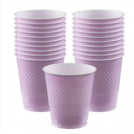 Cups Lavender Lilac 355ml Plastic