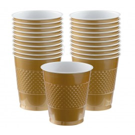 Cups Gold 355ml Plastic