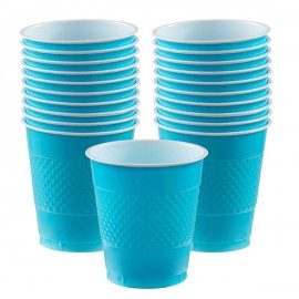 Cups Caribbean Blue 355ml Plastic