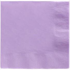 Beverage Napkins Lavender Lilac 2 Ply